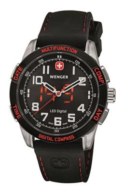Relogio de pulso masculino Wenger 70430 Nomad LED Digital Compass