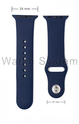 PULSEIRA APPLE WATCH SIMILAR AZUL ESCURA - SILICONE - 34 MM