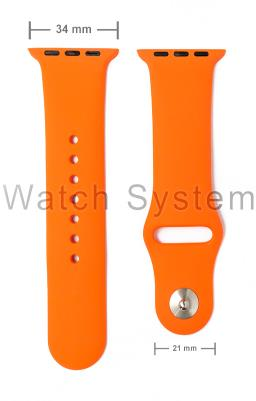 PULSEIRA APPLE WATCH SIMILAR LARANJA - SILICONE - 34 MM