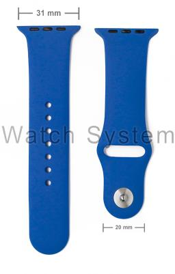 PULSEIRA APPLE WATCH SIMILAR AZUL - SILICONE - 31 MM
