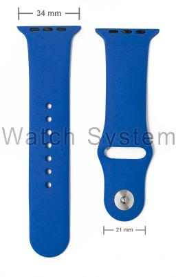 PULSEIRA APPLE WATCH SIMILAR AZUL - SILICONE - 34 MM