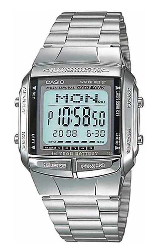 0197760b47e Relogio de pulso masculino CASIO DB-360-1ADF Data Bank - Watch System
