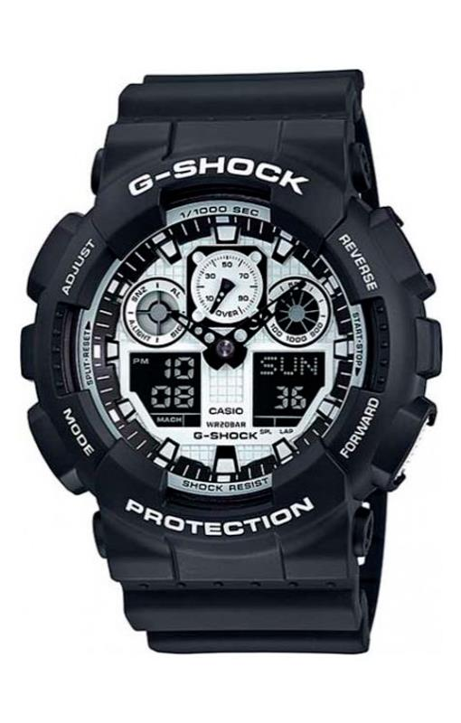 RELOGIO ANALOG/DIGITAL CASIO G-SHOCK - GA-100BW-1ADR