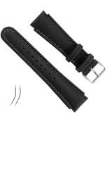 PULSEIRA PVC YACHTSMAN/X LANDER STRAP KIT BLACK SYNTHETIC