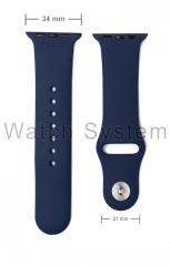 PULSEIRA APPLE AZUL ESCURO 34/21MM - SILICONE - APPLE WATCH - SIMILAR