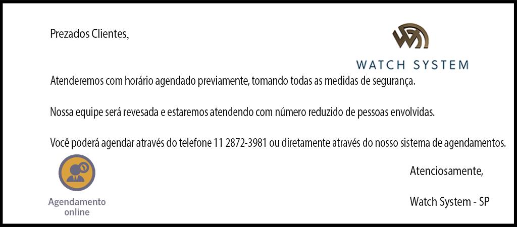 Horario Atendimento Watch System Coronavirus
